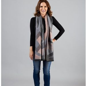Beautiful blush and grey reversible scarf